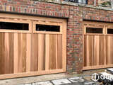 Counterweight Tilt Door – Western Red Cedar Vertical with windows