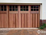 Counterweight Tilt Door – 'Carriage Style' Western Red Cedar with Windows